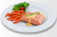Poached Salmon meal