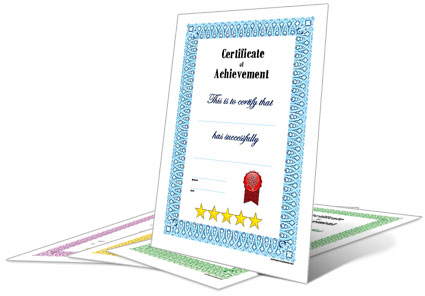 dadcando full page reward certificates