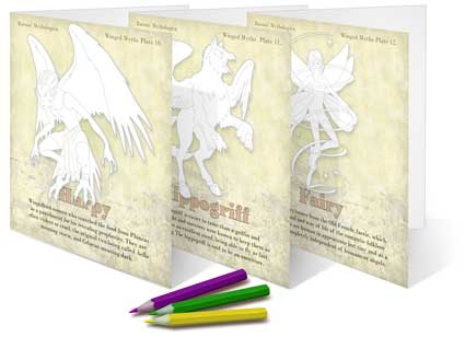 Three Winged Beasts make-your-own cards
