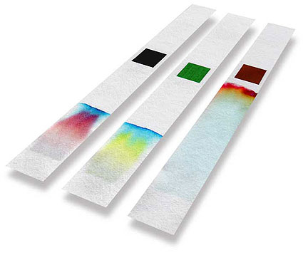 Felt pen chromatography strips