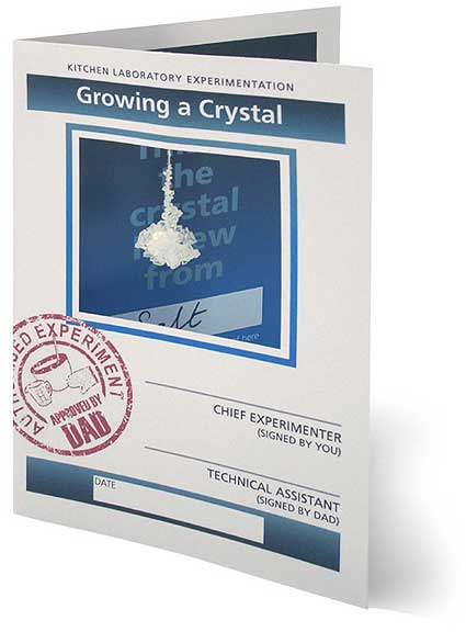 Salt crystal booklet