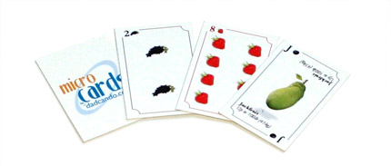 MicroCards - Printable Playing Cards - Fruit Set