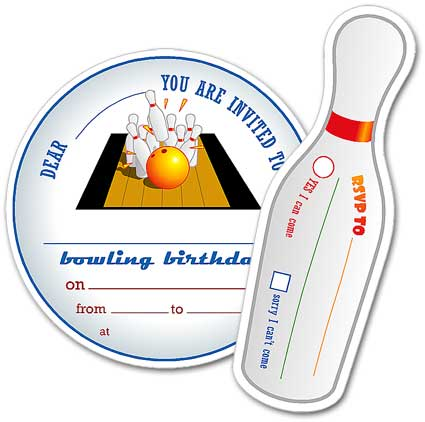 dadcando Original Bowling Party invitations