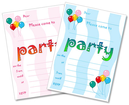 dadcando fun party invitations for kids