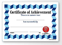 half page blank certificate