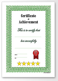 full page blank certificate