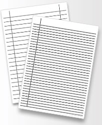 Fantastic heavy ruled line guide paper