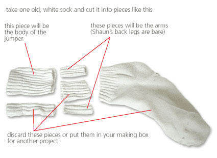 cut up an old sock