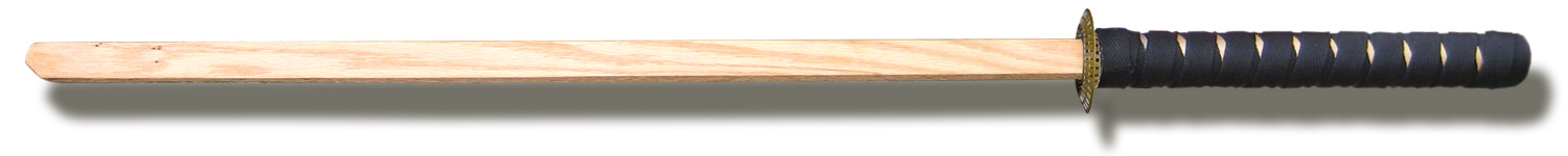 wooden home made samurai sword large image
