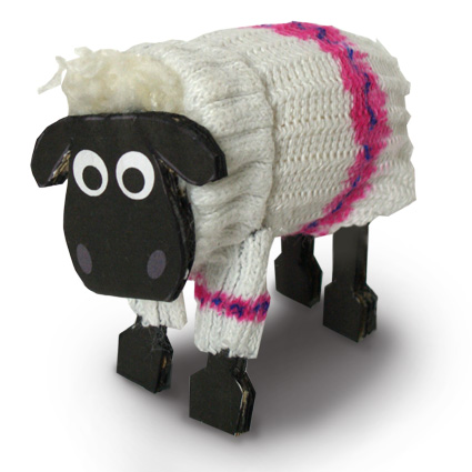 Shaun the sheep made from a pompom