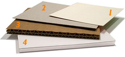 range of cardboard sheets