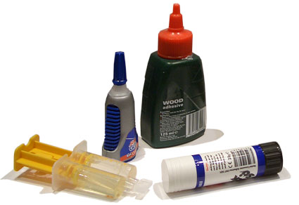 selection of differnt glues