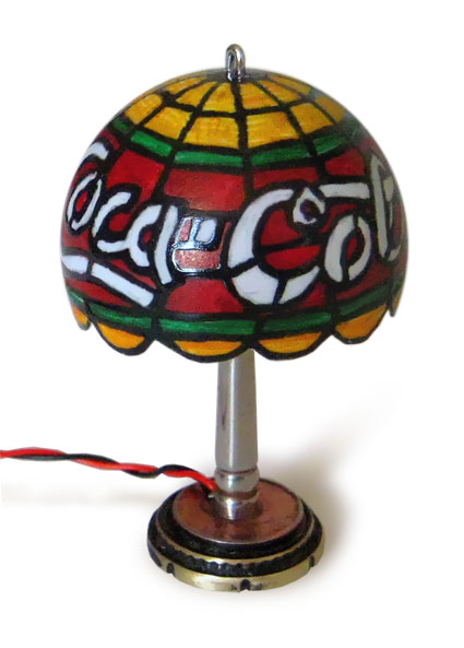 miniature Coca-Cola USB Tiffany lamp