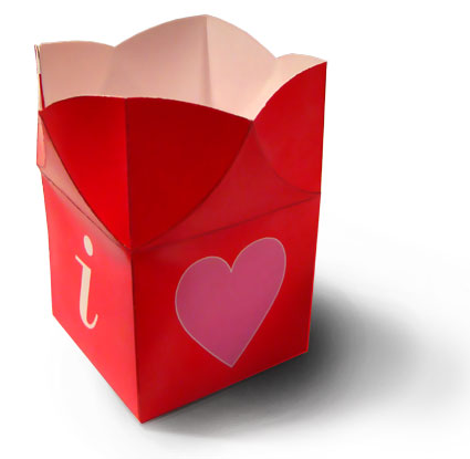 Make your own beautiful pop up box open