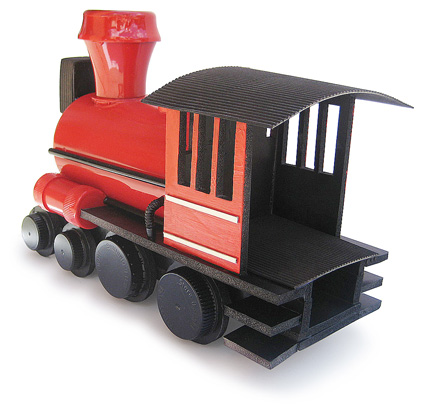 home-made steam locomotive