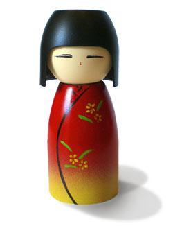 caseiro kokeshi bonecas
