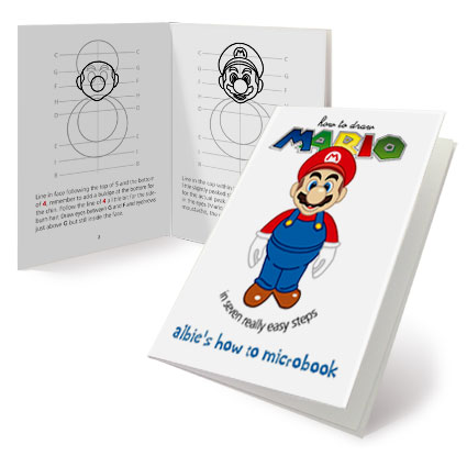 How to draw Mario MicroBook