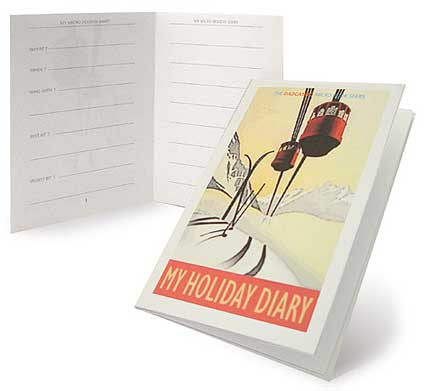 make your own microbook Winter holiday diary