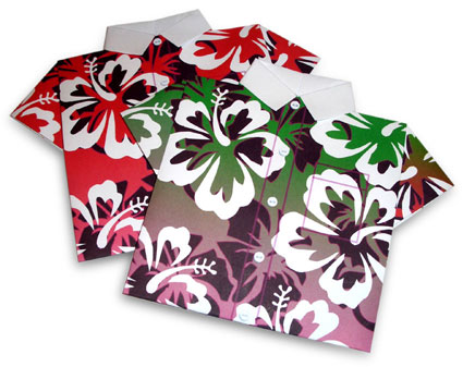 Hawaiian Shirts  made from printable Origami Paper Shirt