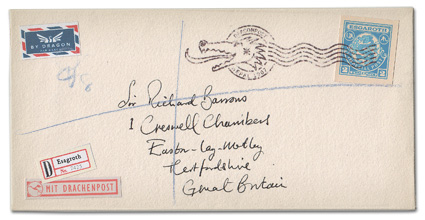 Dragonmail franked envelope