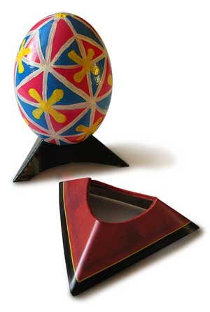Ebony or Cherry look, Paper Egg Stand